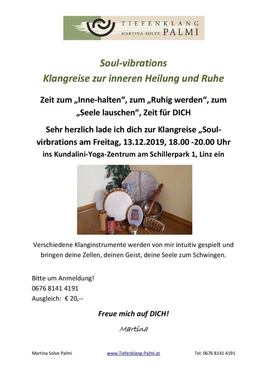 Soul vibrations Yogazentrum Linz
